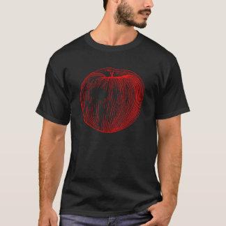 Candy Apple Red Letterpress Apple T-Shirt