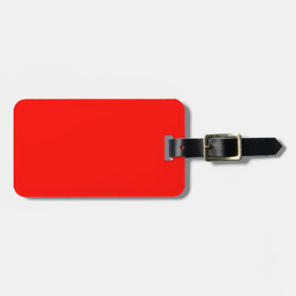 Candy Apple Red Luggage Tag