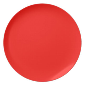 Candy Apple Red Plate