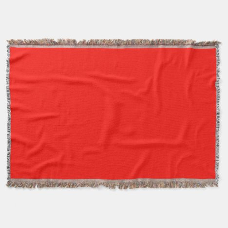 Candy Apple Red Throw Blanket