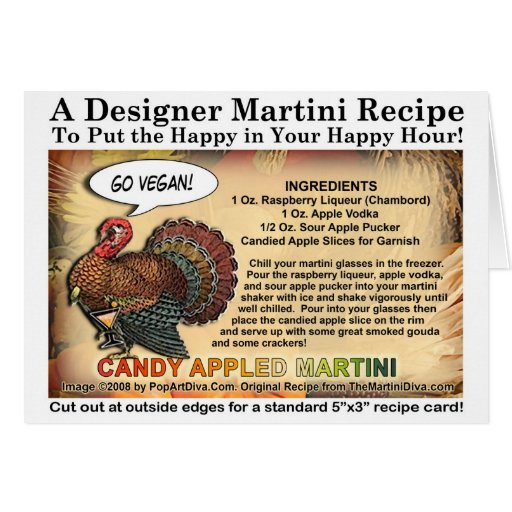 CANDY APPLE THANKSGIVING COCKTAIL RECIPE CARD