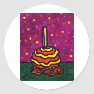 Candy Apple W by Piliero Classic Round Sticker