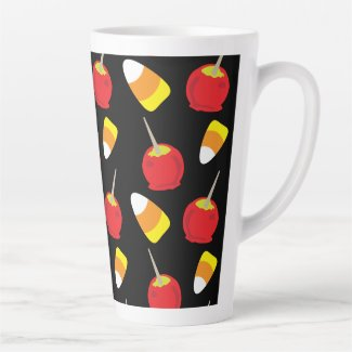 Candy Apples and Candy Corn Latte Mug