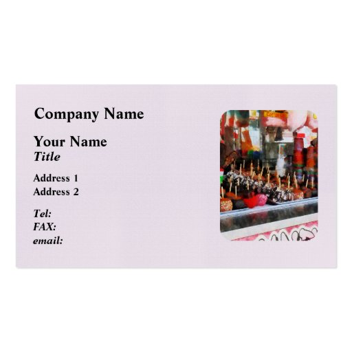 Candy Apples Double-Sided Standard Business Cards (Pack Of 100)