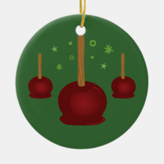 Candy Apples Ceramic Ornament