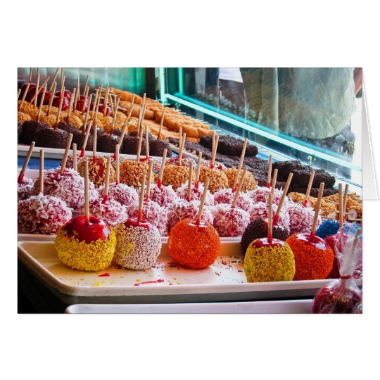 Candy Apples - Coney Island, NYC Card