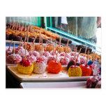 Candy Apples - Coney Island, NYC Postcard