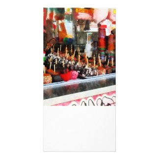 Candy Apples Customized Photo Card