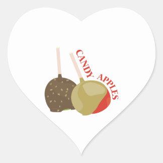 Candy Apples Heart Sticker