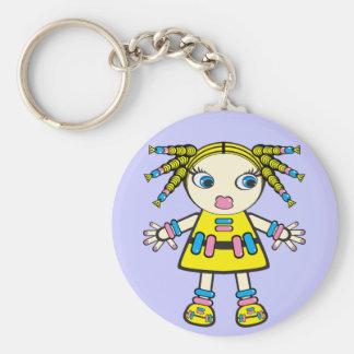candy baby basic round button keychain