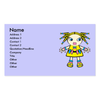 candy baby business card