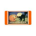 Candy Bag/Food Halloween Address Label