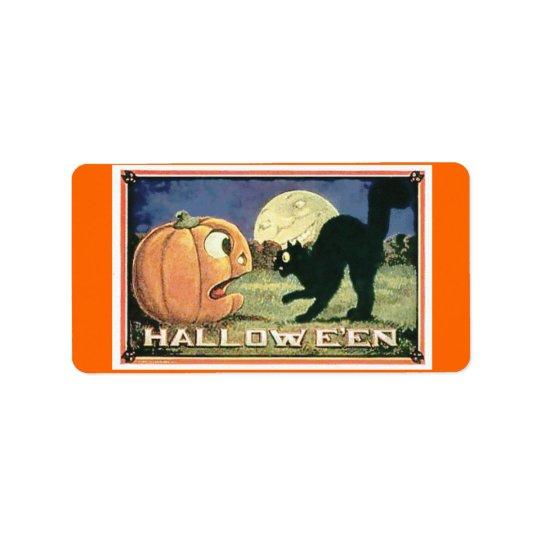Candy Bag Halloween Label