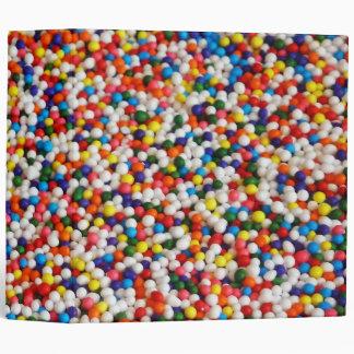 Candy Balls 3 Ring Binder