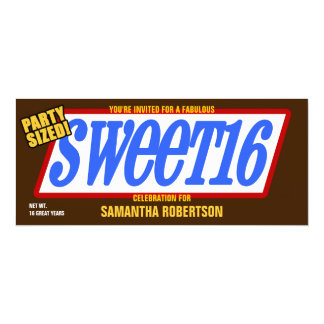 Candy Bar2 Sweet Sixteen Party Invitation