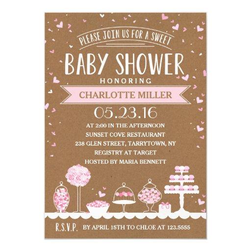 candy bar baby shower card zazzle