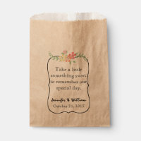 Candy Bar Custom Wedding Favor Bag