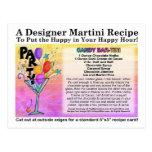Candy Bar Martini Recipe Card Postcard