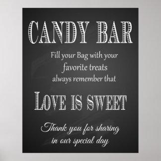 Candy Bar wedding sign chalkboard - blackboard Poster