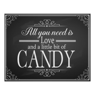 Candy Bar wedding sign chalkboard-blackboard print