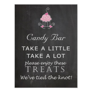 Candy Bar Wedding sign - chalkboard Poster