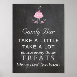 Candy Bar Wedding sign - chalkboard Poster