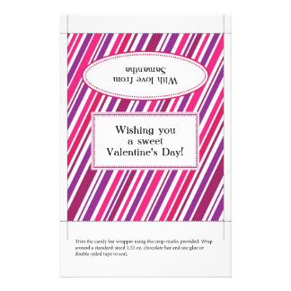 Candy Bar Wrapper Valentine s Day Flyers