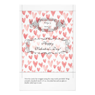 Candy Bar Wrapper Valentine s Day Personalized Flyer