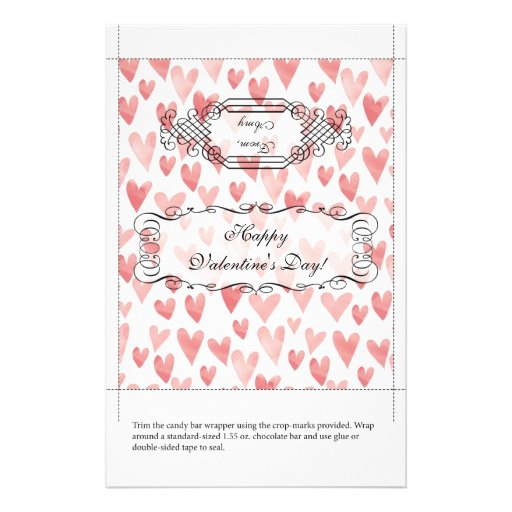 Candy bar wrapper valentine 39 s day flyer zazzle for Valentine candy bar wrapper templates
