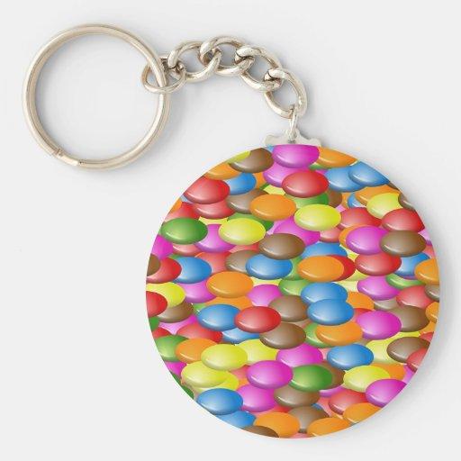 Candy Basic Round Button Keychain