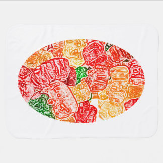 candy bears abstract sketch food sweet snack baby blanket