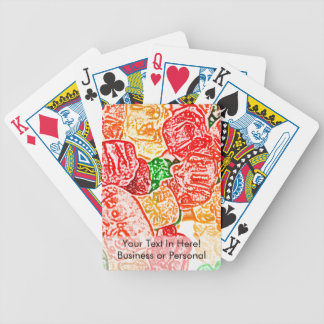 candy bears abstract sketch food sweet snack bicycle playing cards