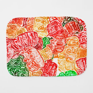 candy bears abstract sketch food sweet snack burp cloths