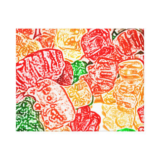 candy bears abstract sketch food sweet snack canvas print