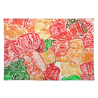 candy bears abstract sketch food sweet snack cloth placemat