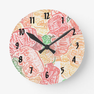 candy bears abstract sketch food sweet snack round clock