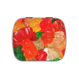 candy bears colorful red green food sweets candy tin
