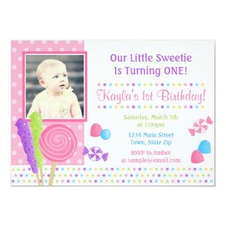 Candy Birthday Invitation 5x7 Photo Card