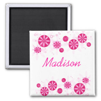 CANDY BLOOMS 2 INCH SQUARE MAGNET