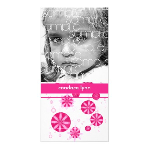 CANDY BLOOMS PHOTO CARDS