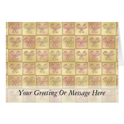 Candy Box Bows Greeting Card