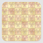 Candy Box Bows Square Stickers
