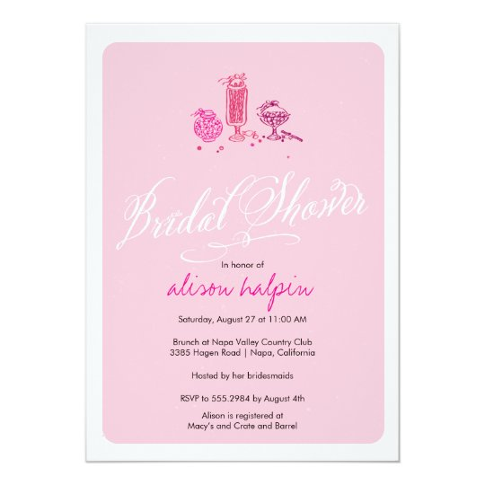 Candy Bridal Shower Card