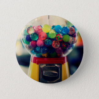 Candy bubblegum toy machine retro button