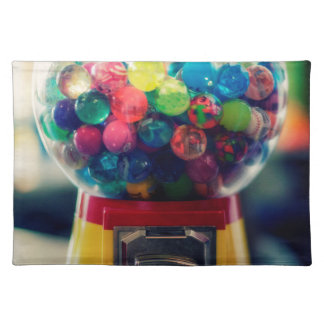 Candy bubblegum toy machine retro cloth placemat