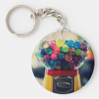 Candy bubblegum toy machine retro keychain