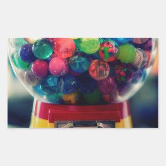 Candy bubblegum toy machine retro rectangular sticker