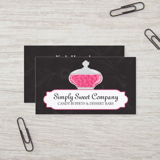 Candy buffet and dessert table business card zazzle candy buffet and dessert table business card colourmoves