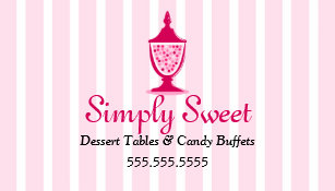 Candy buffet table business cards templates zazzle candy buffet and dessert tables business card colourmoves