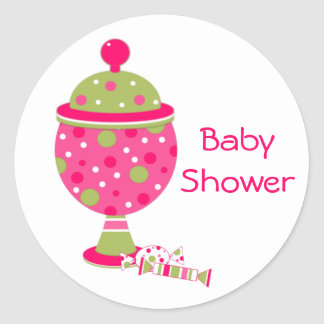 Candy Buffet Baby Shower Envelope Seal Classic Round Sticker